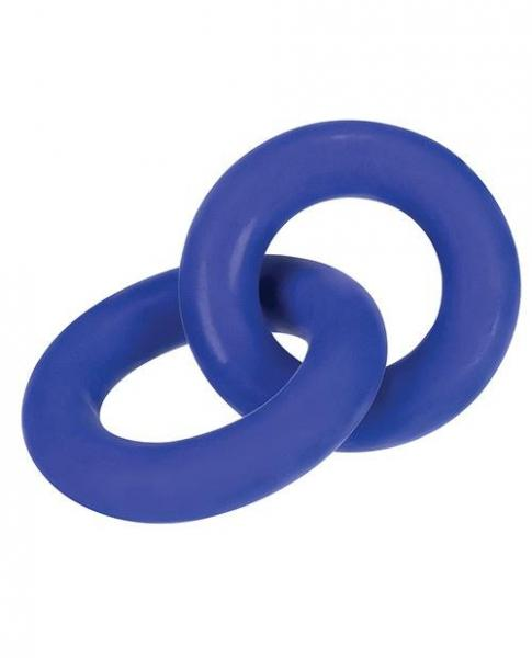 Duo Link Cock/ball Rings Cobalt