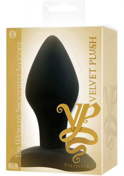 Velvet Plush Silicone Fulfiller - Large - Black