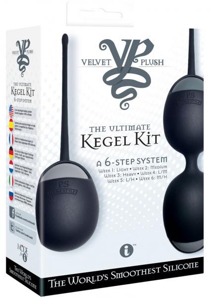 Velvet Plush The Ultimate Kegel Kit Silicone Balls Black