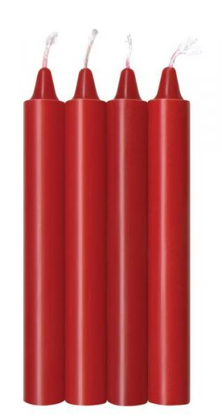 Make Me Melt Sensual Warm Drip Candles Red Hot 4 Pack