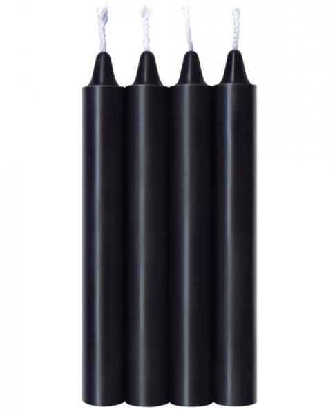 Make Me Melt Warm Drip Candles Jet Black 4 Pack