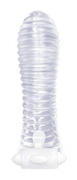 The Nines Vibrating Sextenders Ribbed Clear