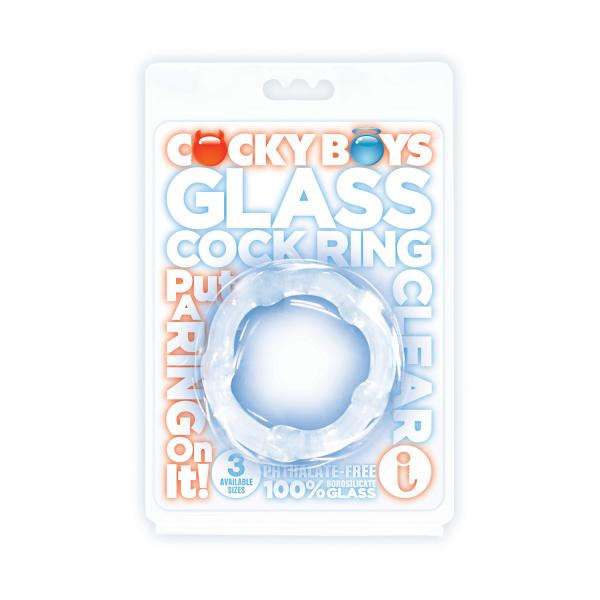 Glass C*ckring Clear 1.77 Inch Diameter