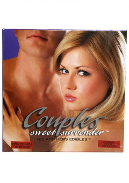 Couples Sweet Surrender His And Hers Edibles 2 Piece Set Pina Colada With Rum