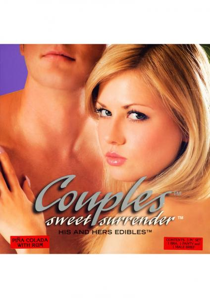 Couples Sweet Surrender His And Hers Edible 3 Piece Pina Colada With Rum