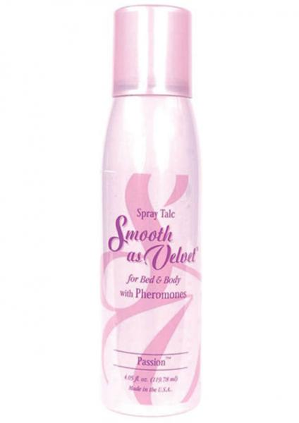 Smooth As Velvet Spray Talc With Pheromones Passion 4.05 Ounce
