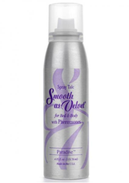 Smooth As Velvet Spray Talc With Pheromones Paradise 4.05 Ounce