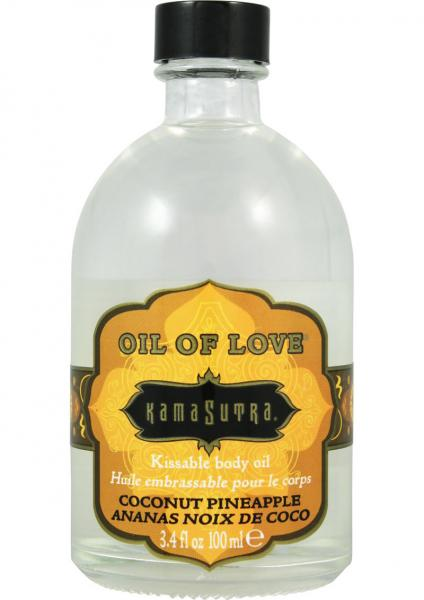 Oil Of Love Kissable Body Oil Coconut Pineapple 3.4 Ounce