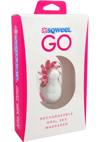 Sqweel Go Rechargeable Oral Sex Massager White