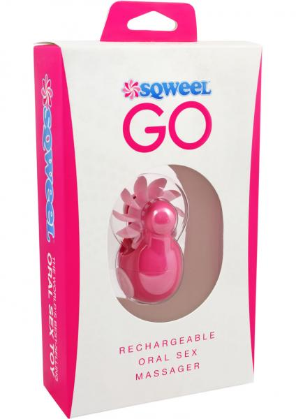 Sqweel Go Rechargeable Oral Sex Massager Pink