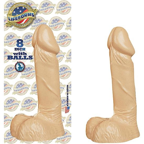 All American Lifeforms 8 Inches Dong With Balls Flesh