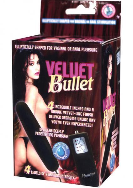 Velvet Bullet Vibrator Waterproof 4 Inch Black