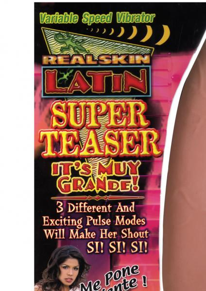 Real Skin Latin Super Teaser Vibrator Flesh