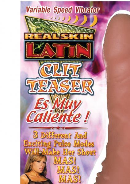 Real Skin Latin Clit Teaser Vibrator Es Muy Caliente Flesh