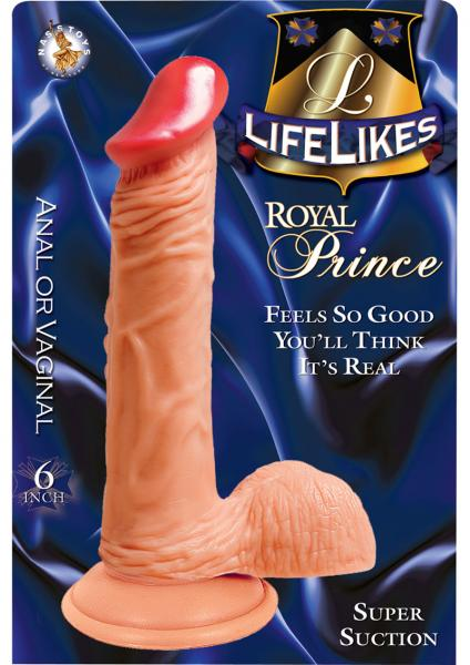 Lifelikes Royal Prince Dildo 6 Inch Flesh