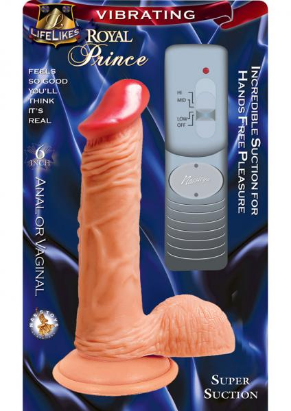 Lifelikes Vibrating Royal Prince Vibrator 6 Inch Flesh