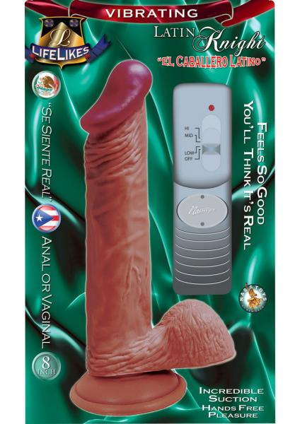 Lifelikes Vibrating Latin Knight Vibrator 8 Inch Flesh