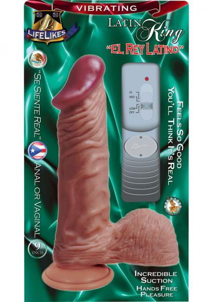 Lifelikes Vibrating Latin King Vibrator 9 Inch Flesh