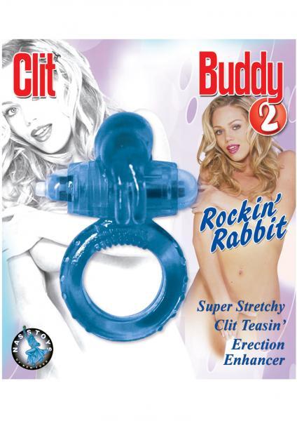 Clit Buddy 2 Rockin Rabbit Cock Ring Blue
