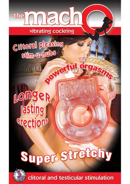 Macho Vibrating Cockring Beige