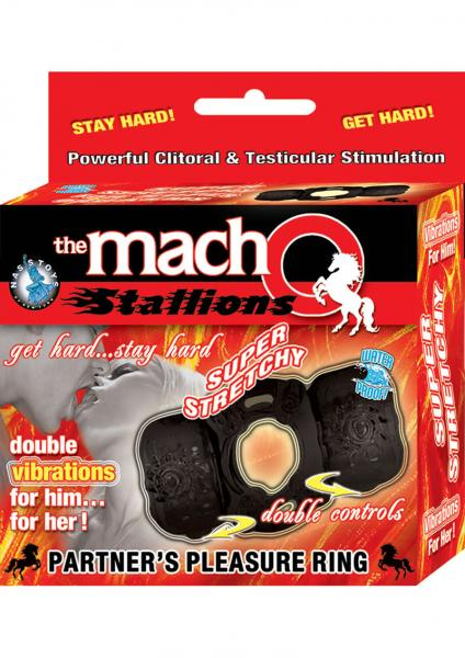 The Macho Stallions Partners Pleasure Ring Waterproof Black