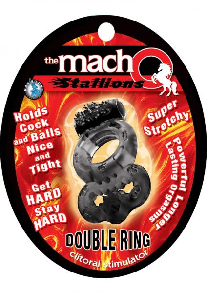 The Macho Stallions Double Ring Black