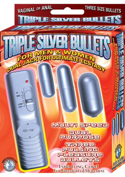 Triple Silver Bullets Graduated Size Multispeed Silver
