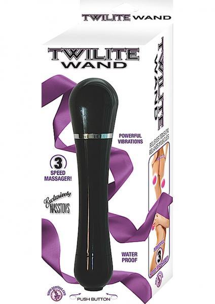 Twilite Wand 3 Speed Massager 8.25 Inch Black