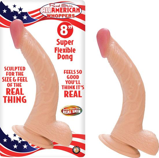 Real Skin All American Whoppers Dong With Balls 8 Inches Flesh
