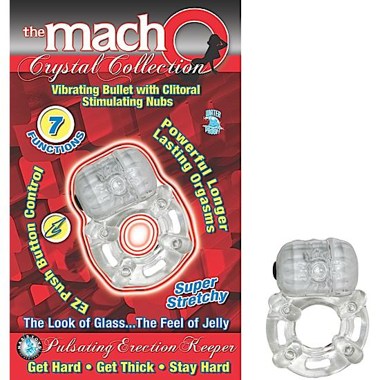 Crystal Pulsating Erection Keeper Clear Ring