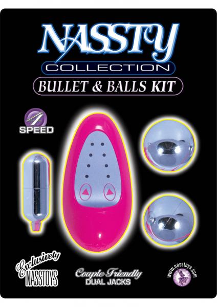 Nassty Collection Bullet And Balls Kit 4 Speed Pink