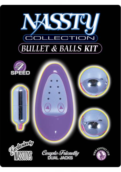 Naststy Collection Bullet And Balls Kit 4 Speed Lavender