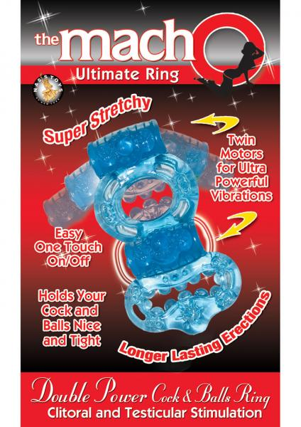 Double Power Cock and Ball Ring - Blue