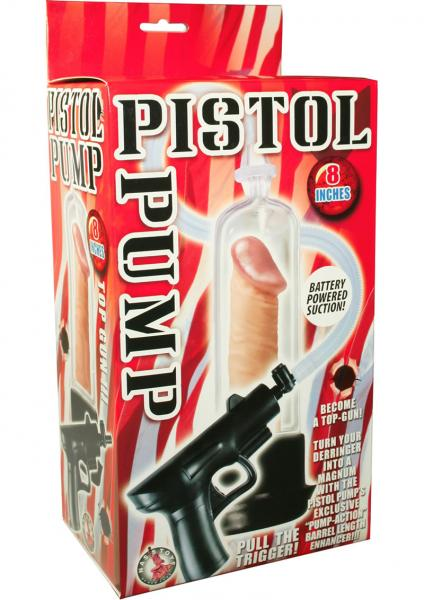 Pistol Pump Battery Operated 8 Inch - Clear