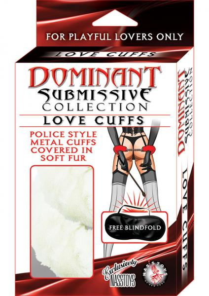 Dominant Submissive Love Cuffs White