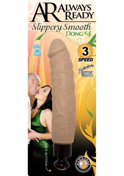 Always Ready Slippery Smooth Dong No 4 Waterproof Flesh