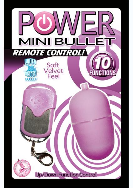 Power Mini Bullet Remote Control Purple Vibrator