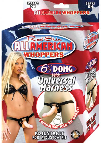 "All American Whoppers 6.5"" Dong with Harness"