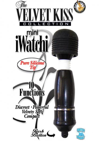 The Velvet Kiss Collection Mini iWatchi Silicone Tip Massager Waterproof Black