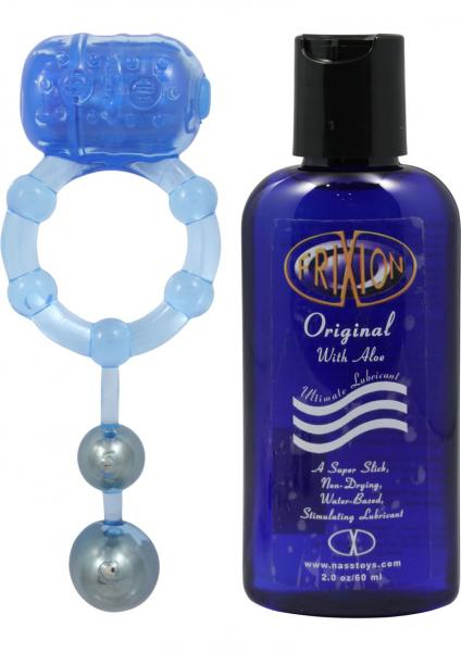 The Macho Xxxtasy Erection Keeper Cock Ring Waterproof Blue