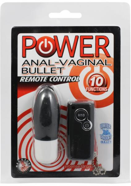 Power Anal Vaginal Bullet Waterproof Black