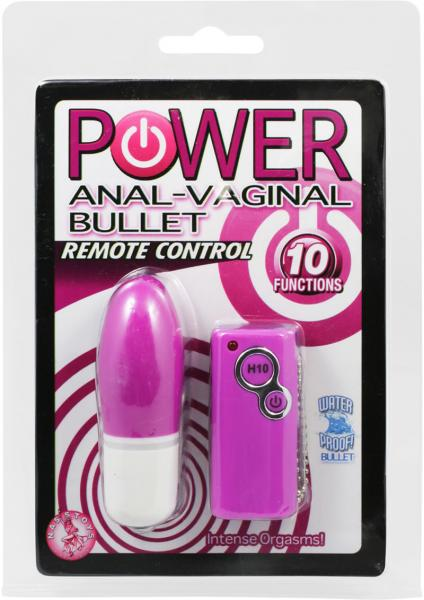 Power Anal Vaginal Bullet Waterproof Purple