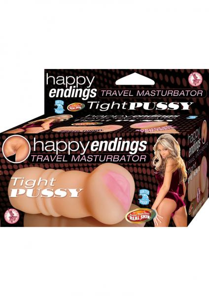 Happy Endings Travel Masturbator Tight Pussy Beige