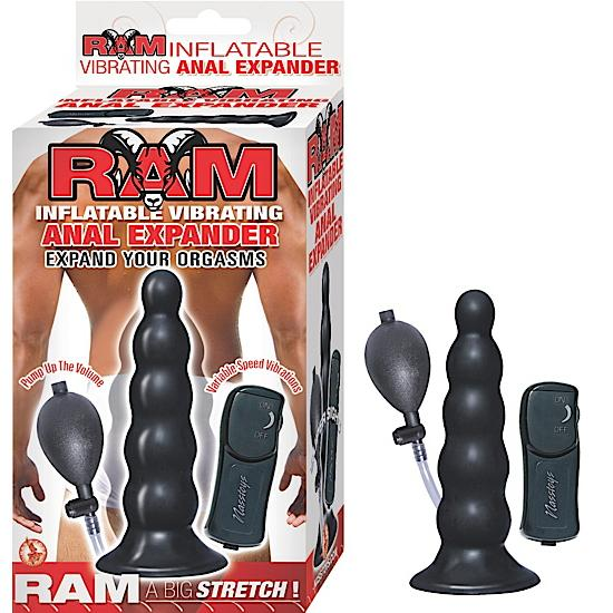 Ram Inflatable Vibrating Anal Expander Black