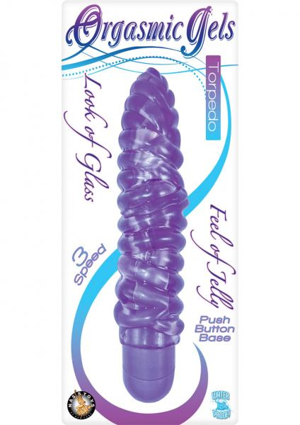Torpedo Jelly Vibrator Waterproof - Purple