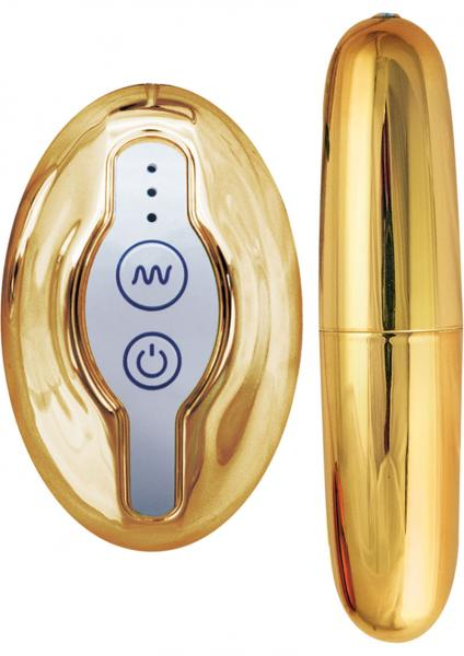 Nen Wa Remote Control Ultra Bullet Waterproof Gold