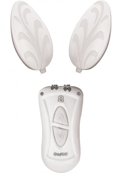 Ebony & Ivory Dual Vibrating Remote Control Eggs White