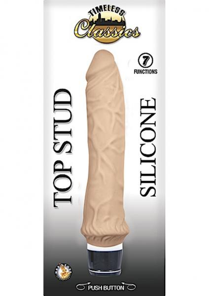 Timeless Classics Top Stud Silicone Waterproof Vibe Flesh 9.5 Inch
