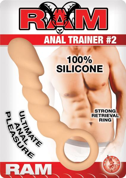Ram Anal Trainer #2 Silicone Anal Beads Waterproof Flesh 5.5 Inch