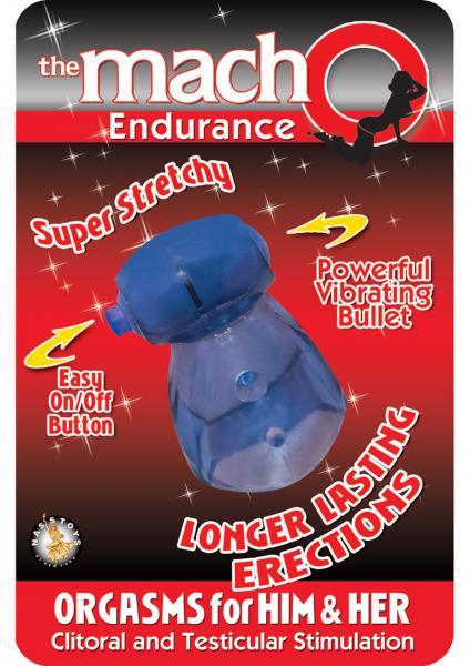The Macho Endurance Vibrating Cockring Waterproof Blue